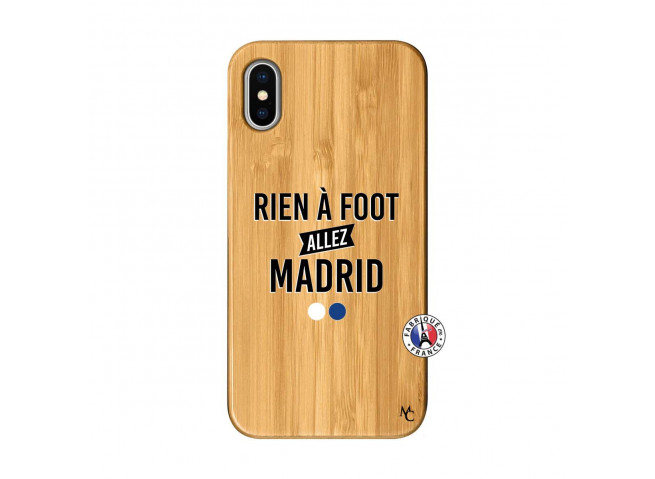 Coque iPhone X/XS Rien A Foot Allez Madrid Bois Bamboo