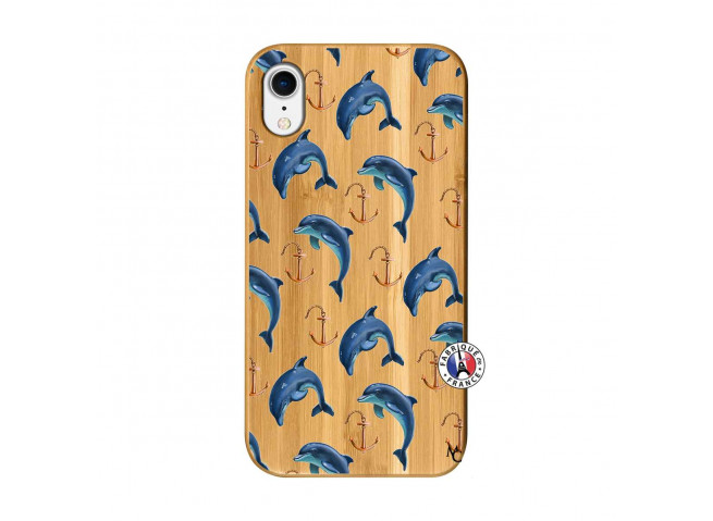 Coque Bois iPhone XR Dauphins