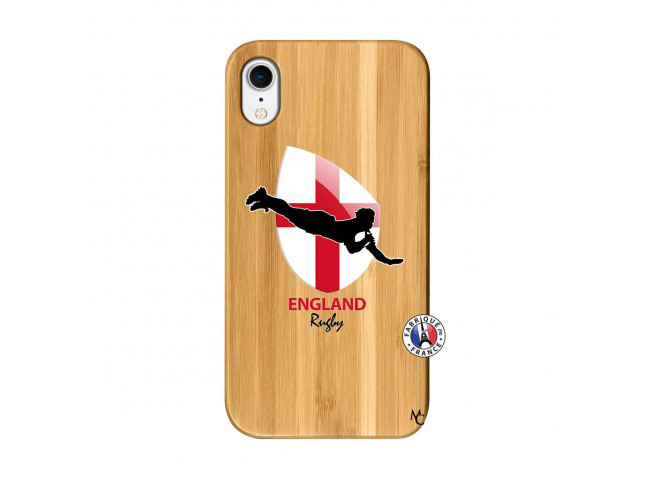 Coque iPhone XR Coupe du Monde Rugby-England Bois Bamboo