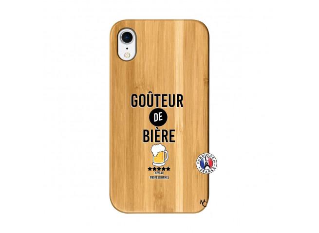 Coque iPhone XR Gouteur De Biere Bois Bamboo