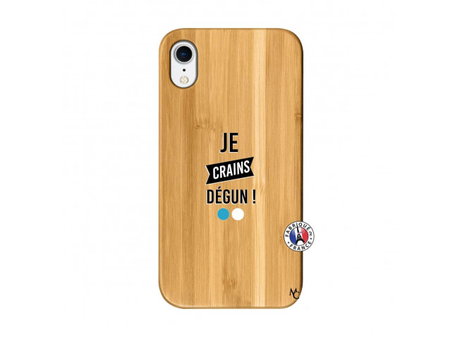 Coque iPhone XR Je Crains Degun Bois Bamboo