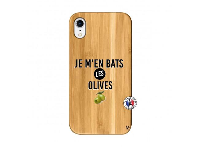 Coque iPhone XR Je M En Bas Les Olives Bois Bamboo