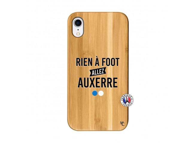 Coque iPhone XR Rien A Foot Allez Auxerre Bois Bamboo