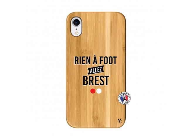Coque iPhone XR Rien A Foot Allez Brest Bois Bamboo