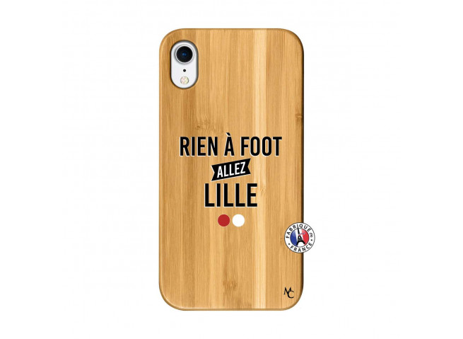 Coque iPhone XR Rien A Foot Allez Lille Bois Bamboo