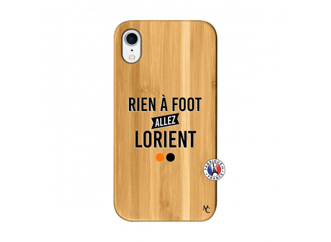 Coque iPhone XR Rien A Foot Allez Lorient Bois Bamboo
