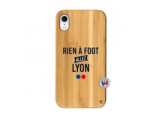 Coque iPhone XR Rien A Foot Allez Lyon Bois Bamboo