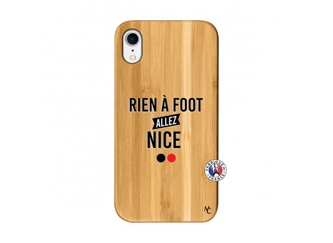 Coque iPhone XR Rien A Foot Allez Nice Bois Bamboo