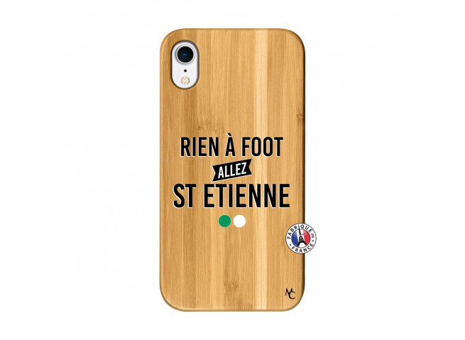 Coque iPhone XR Rien A Foot Allez St Etienne Bois Bamboo