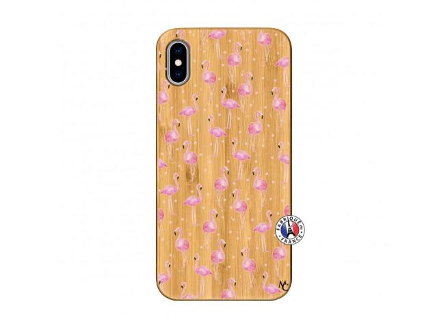 Coque Bois iPhone XS MAX Flamingo