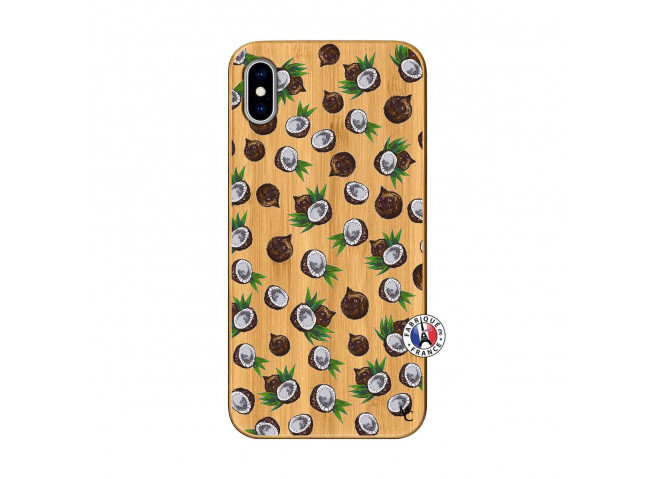 Coque iPhone XS MAX Coco Bois Bamboo