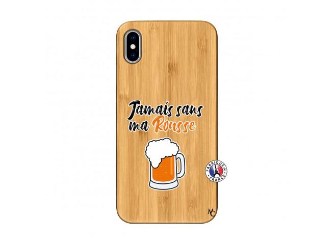 Coque iPhone XS MAX Jamais Sans Ma Rousse Bois Bamboo