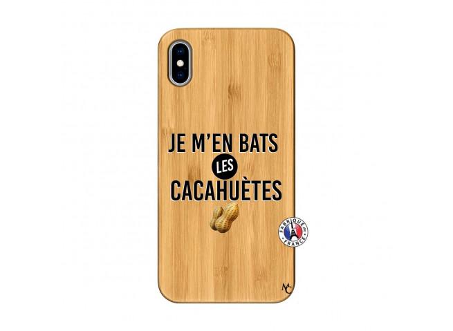 Coque iPhone XS MAX Je M En Bas Les Cacahuetes Bois Bamboo