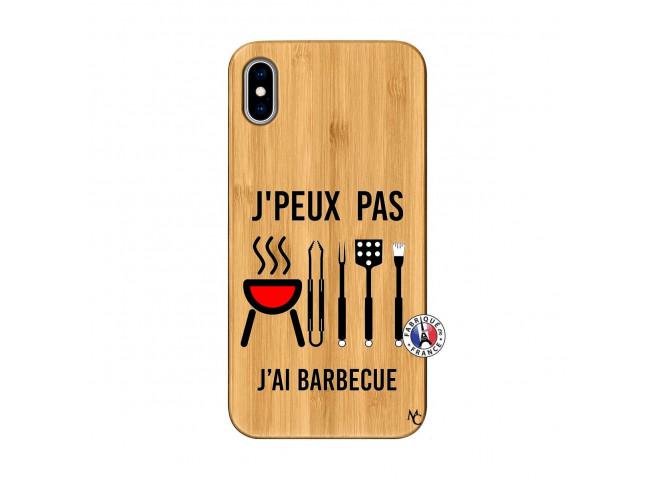 Coque Bois iPhone XS MAX Je Peux Pas J Ai Barbecue
