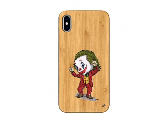 Coque iPhone XS MAX Joker Dance Bois Bamboo