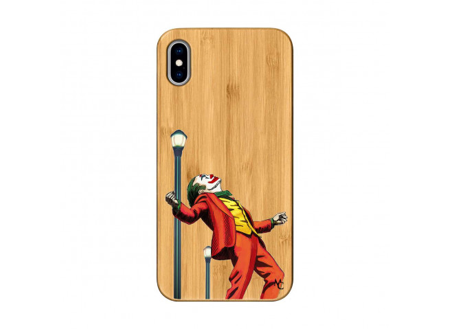 Coque iPhone XS MAX Joker Bois Bamboo