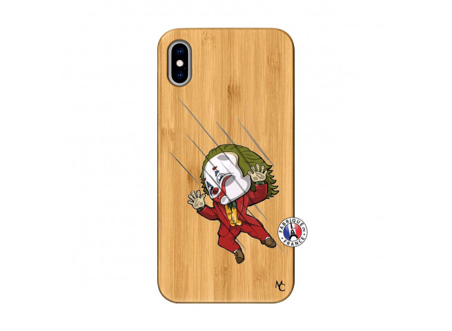 Coque iPhone XS MAX Joker Impact Bois Bamboo
