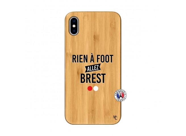 Coque iPhone XS MAX Rien A Foot Allez Brest Bois Bamboo
