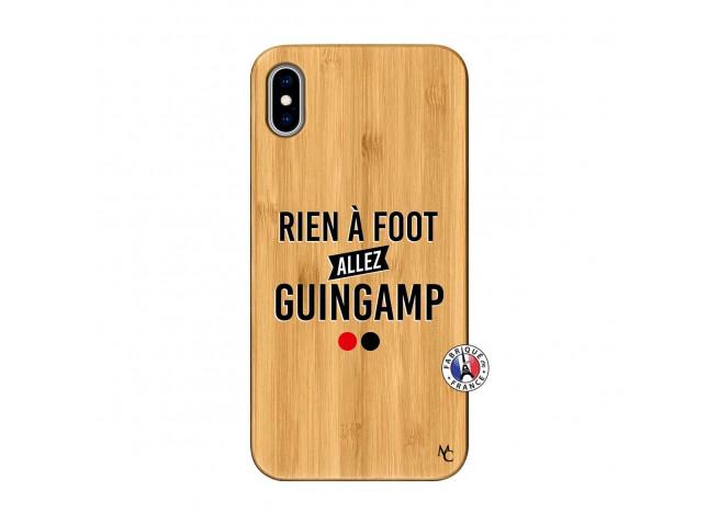 Coque iPhone XS MAX Rien A Foot Allez Guingamp Bois Bamboo
