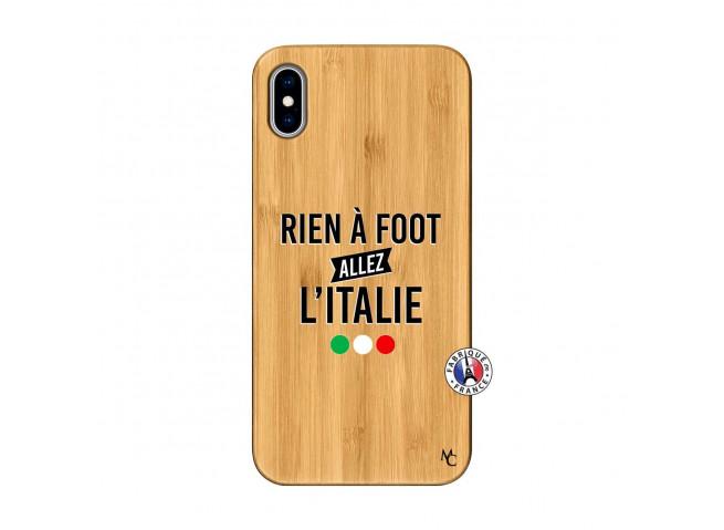 Coque iPhone XS MAX Rien A Foot Allez L'Italie Bois Bamboo