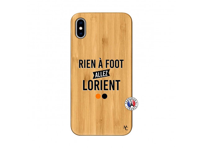 Coque iPhone XS MAX Rien A Foot Allez Lorient Bois Bamboo