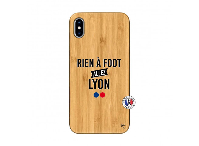 Coque iPhone XS MAX Rien A Foot Allez Lyon Bois Bamboo