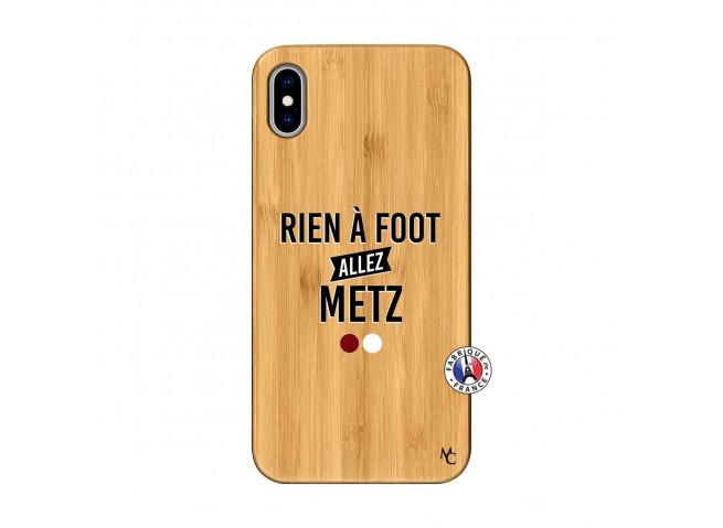 Coque iPhone XS MAX Rien A Foot Allez Metz Bois Bamboo