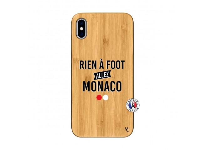 Coque iPhone XS MAX Rien A Foot Allez Monaco Bois Bamboo