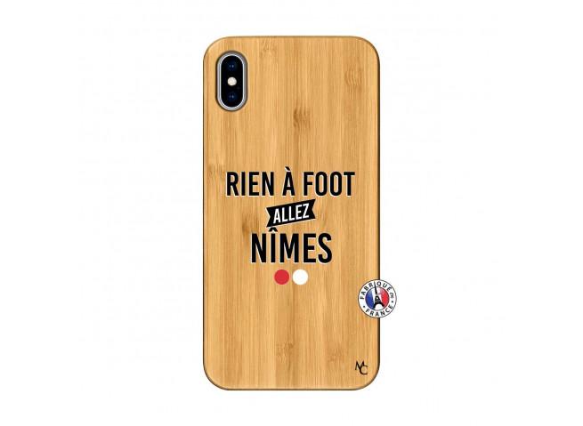 Coque iPhone XS MAX Rien A Foot Allez Nimes Bois Bamboo