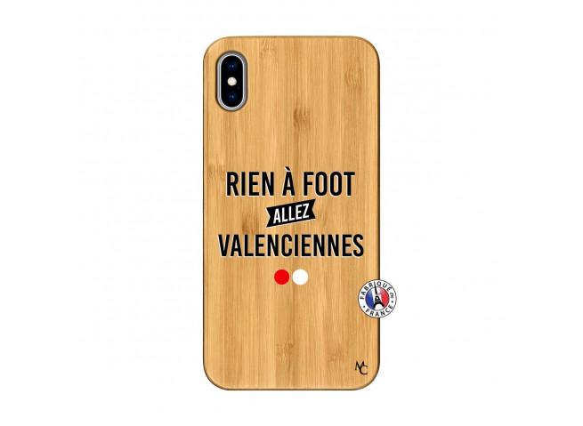 Coque iPhone XS MAX Rien A Foot Allez Valenciennes Bois Bamboo