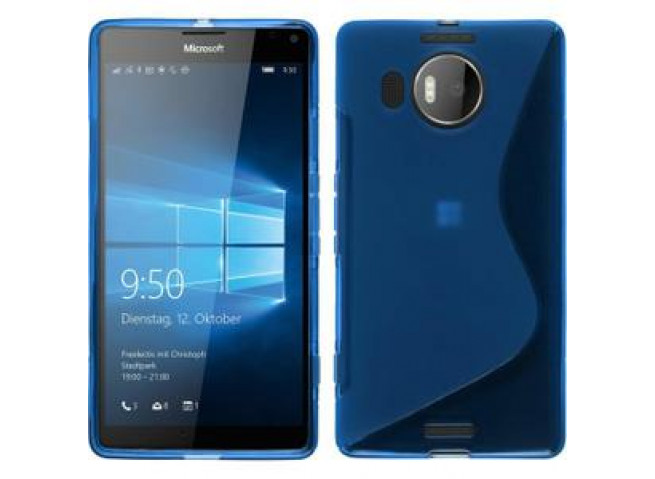 Coque Microsoft Lumia 950 XL Silicone Grip-Bleu