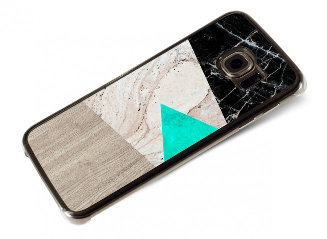 Coque Samsung Galaxy S6 Edge Marble and Wood