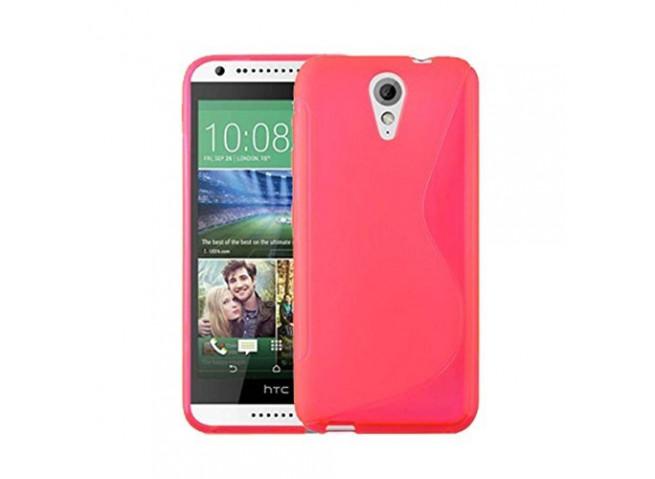 Coque HTC Desire 620 Silicone Grip Rose