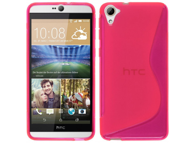 Coque HTC Desire 826 Silicone Grip-Rose