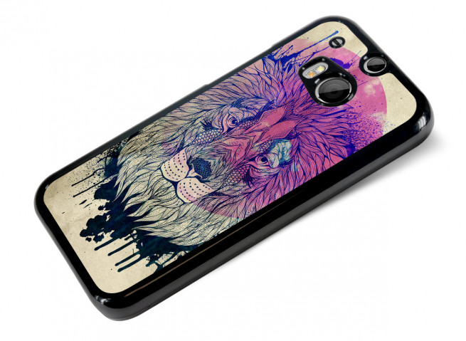 Coque HTC One M8 Lion Face