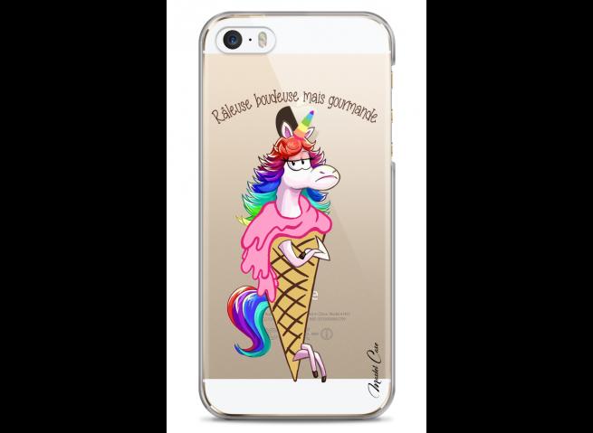 Coque iPhone 5C Cartoon ice cream unicorn
