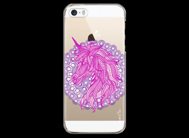 Coque iPhone 5/5s/SE Mandala Licorne