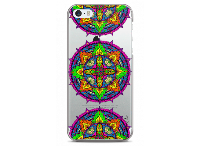 Coque iPhone 5/5s/SE Les vitrailles mandala