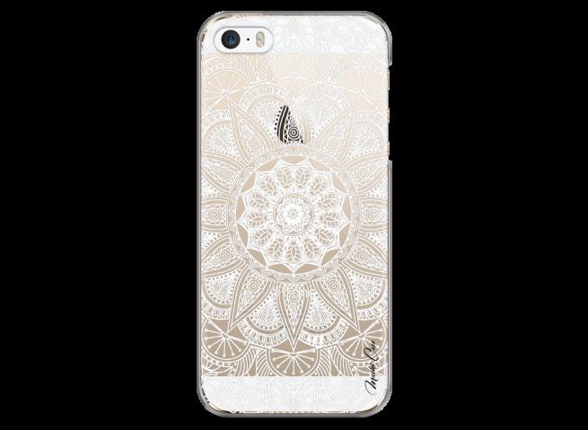 Coque iPhone 5C White Mandala