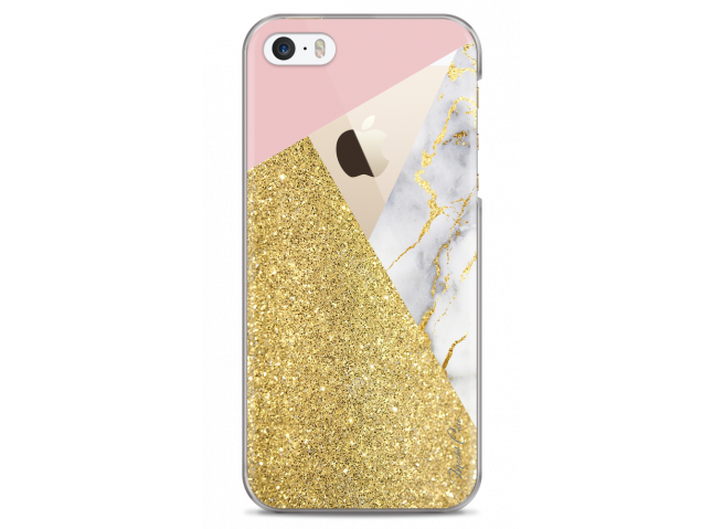 Coque iPhone 5/5s/SE Glitter Collage and Marble