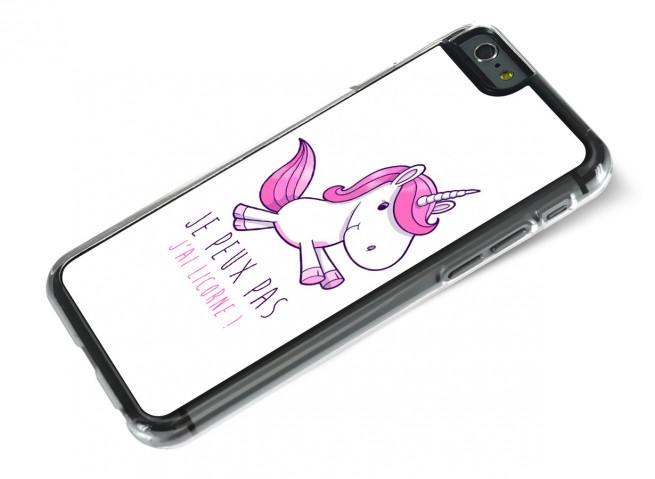 Coque iPhone 6/6S Je Peux Pas J'ai Licorne