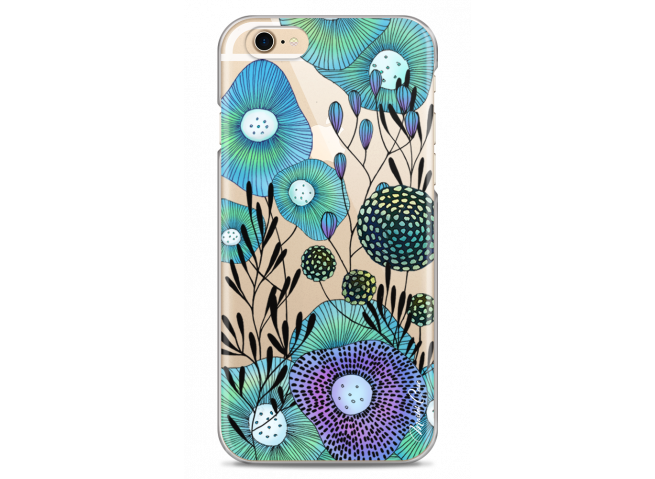 Coque iPhone 6 Plus /6S Plus Water blue drawing flowers