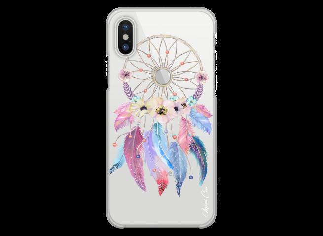 Coque iPhone XR  Multicolor watercolor floral dreamcatcher