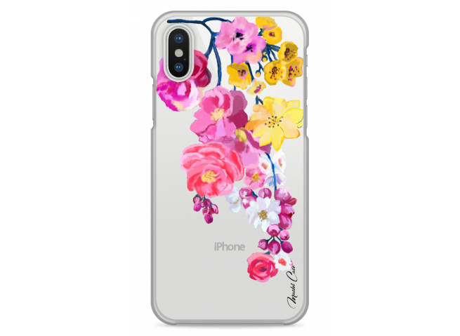 Coque iPhone XS MAX Painted Flowers