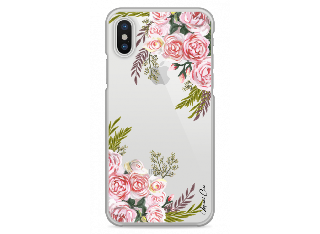 Coque iPhone XR Pink Flowers Painted