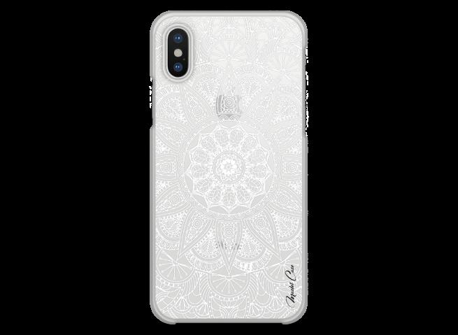 Coque iPhone XR White Mandala