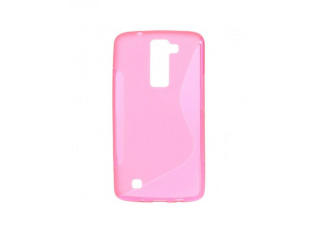 Coque LG K8 Silicone Grip-Rose