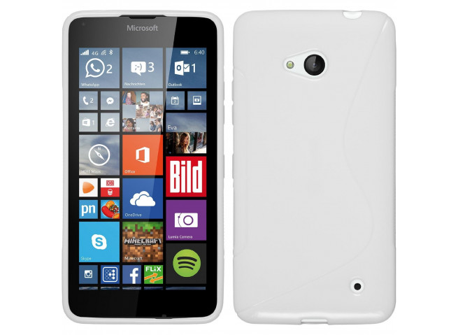 Coque Microsoft Lumia 640 Silicone Grip-Blanc