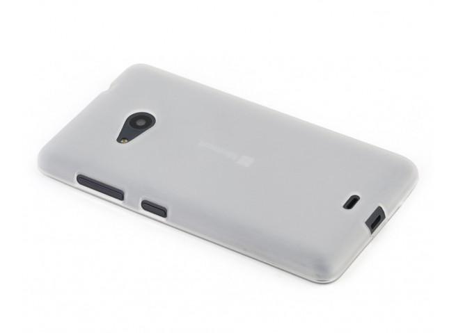 Coque Microsoft Lumia 535 Silicone Opaque-Translucide