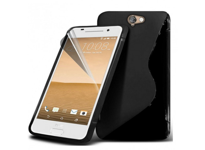 Coque HTC One A9 Silicone Grip-Noir